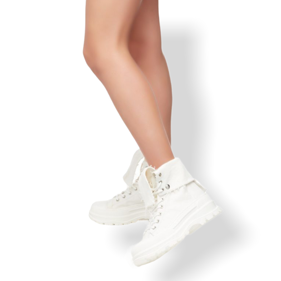 OVYE BY CRISTINA LUCCHI - SNEAKER IN CANVAS BIANCO