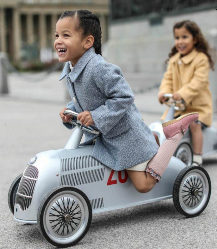 Cavalcabile in Metallo Rider Mercedes-Benz W 25 Freccia Argento  per Bambini della Linea I Riders di Baghera