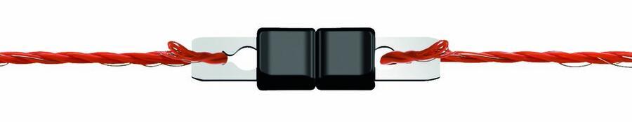 Giunto inox per fili Litzclip fino a 3 mm blister 10 pz