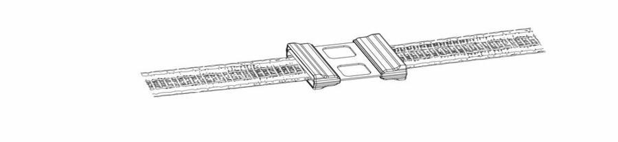 Giunto in acciaio inox Litzclip per bande fino a 40 mm blister 5 pezzi