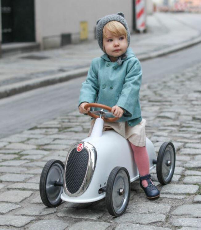 Cavalcabile in Metallo Rider Elegant Bianco avorio  per Bambini della Linea I Riders di Baghera
