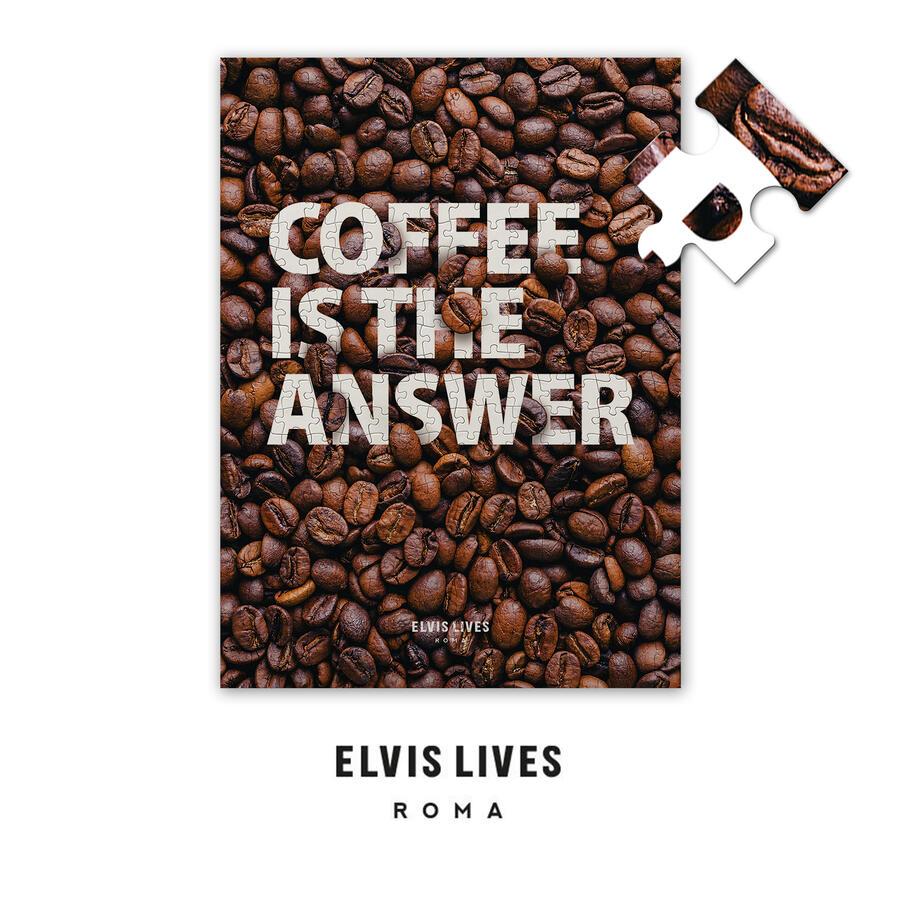 Elvis Lives Puzzle - Coffee