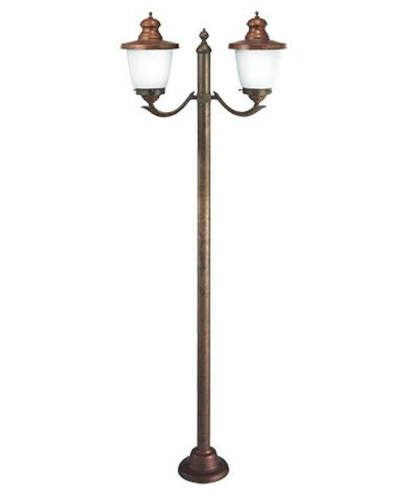 Lampione a Due Luci per Esterno VENEZIA in Ottone e Rame de Il Fanale, Varie Finiture e Modelli - Offerta di Mondo Luce 24