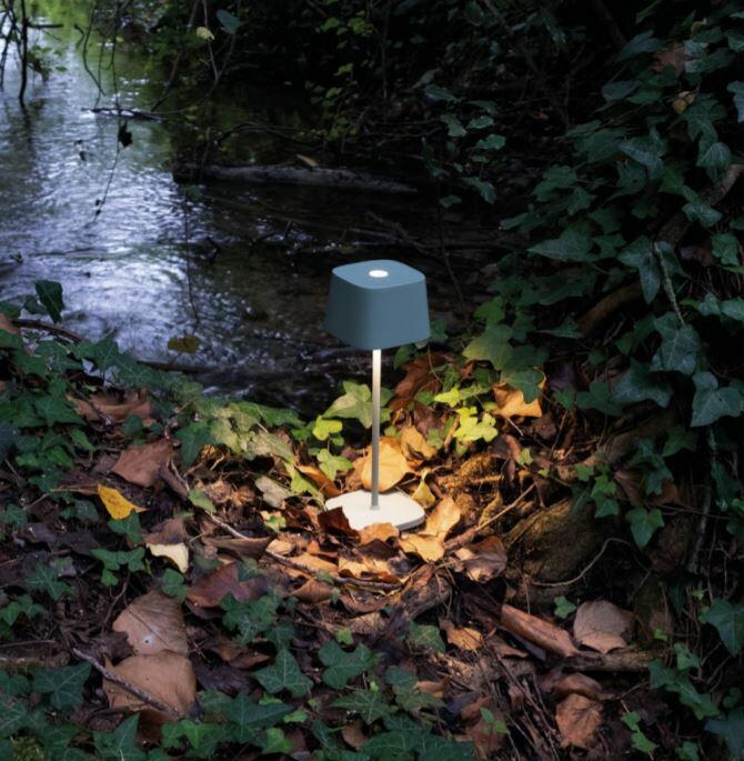 Lampada Ricaricabile da Tavolo OFELIA di Zafferano in Metallo, Varie Finiture - Offerta di Mondo Luce 24