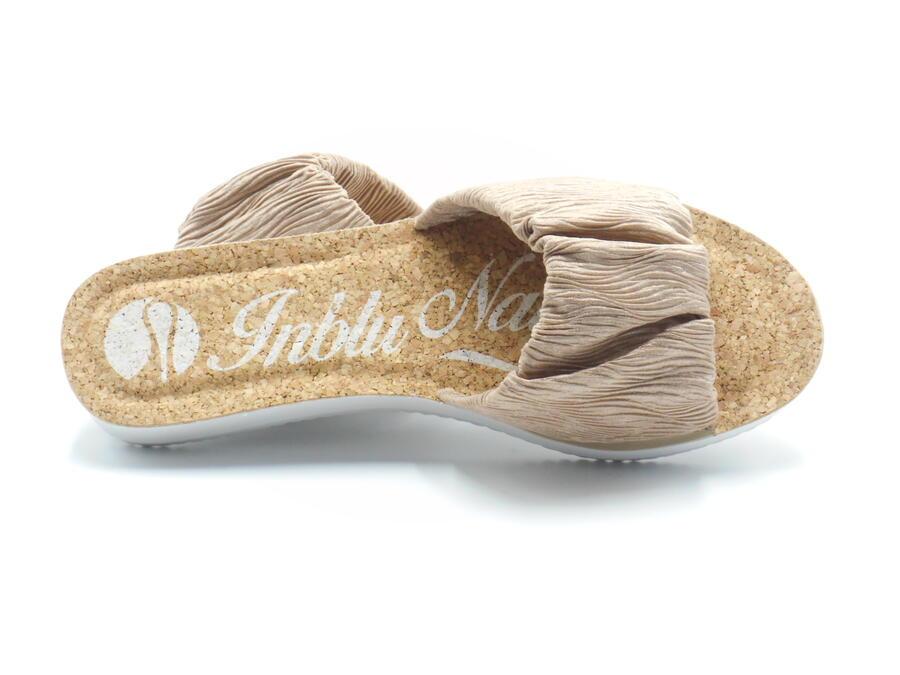 Inblu ciabatta donna con sottopiede in sughero color sabbia