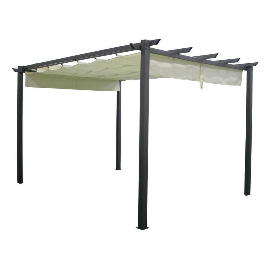 Ricambio telo di Gazebo Pergola da giardino SILVIA 3X4 M Struttura In Alluminio Telo Retrattile Da Arredo Giardino