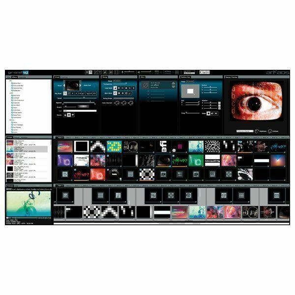 ARKAOS GRAND VJ 2.6 Software di mixaggio video - Controllabile da Midi - Licenza