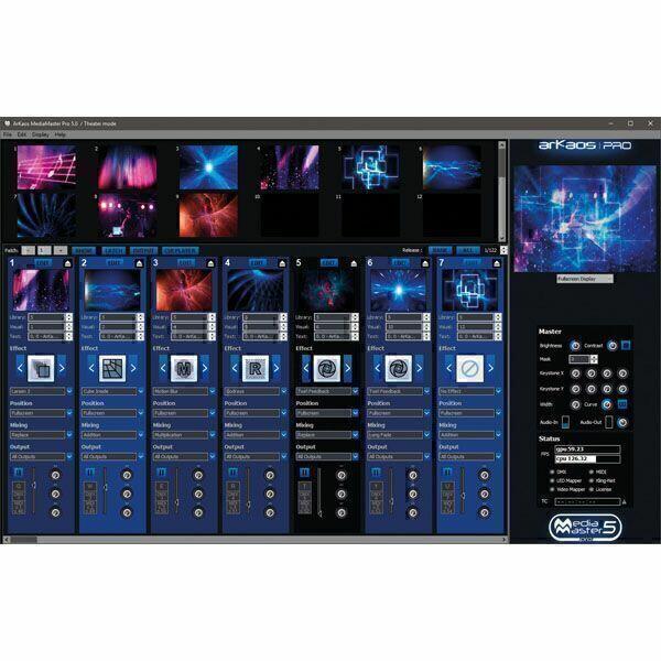 ARKAOS MEDIAMASTER EXPRESS 5 Software Media Server controllabile da DMX - Box