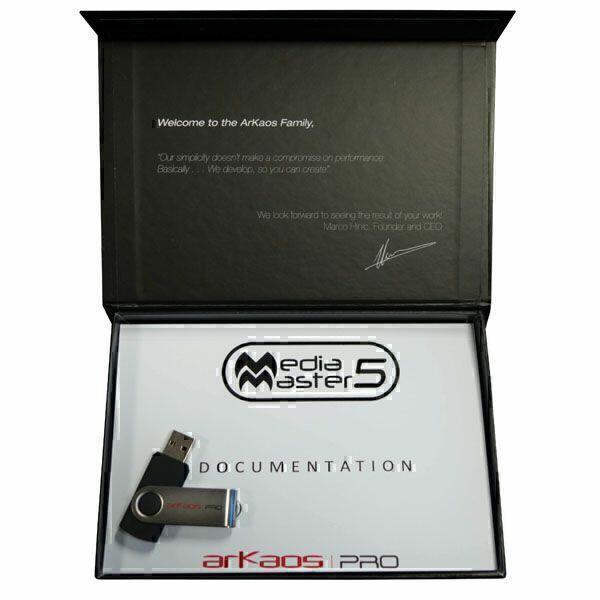 ARKAOS MEDIAMASTER PRO 5 Software Media Server controllabile da DMX - Box