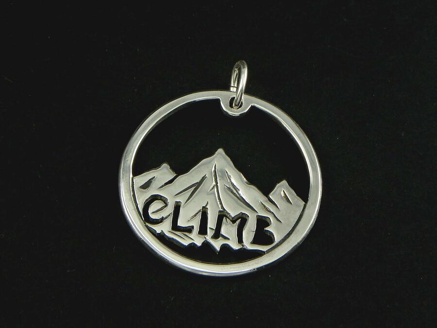 "Keychain Mountain Pendant  ""Climb"""