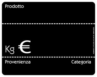 20 Segnaprezzi lavagnetta nera (3 varianti)