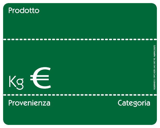20 Segnaprezzi lavagnetta verde (2 varianti)