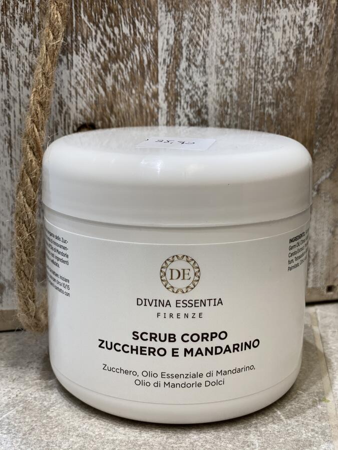 Scrub viso e corpo mandarino bio e zucchero da 500 ml