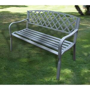 Panchina da giardino MIDLAND colore ANTRACITE cm 126x56xH 80