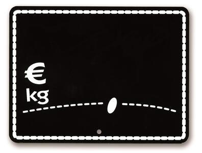 25 Segnaprezzi lavagnetta nera cm. 10,5x8
