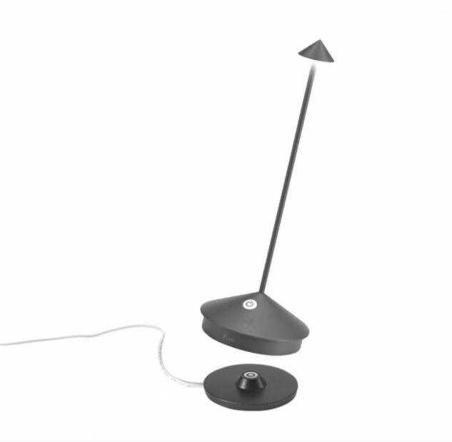 Lampada Ricaricabile da Tavolo PINA di Zafferano in Metallo, Varie Finiture - Offerta di Mondo Luce 24