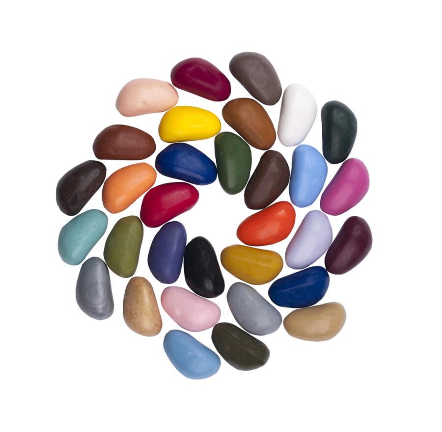 Crayon Rocks 32 pastelli di soia in sacchetto di cotone