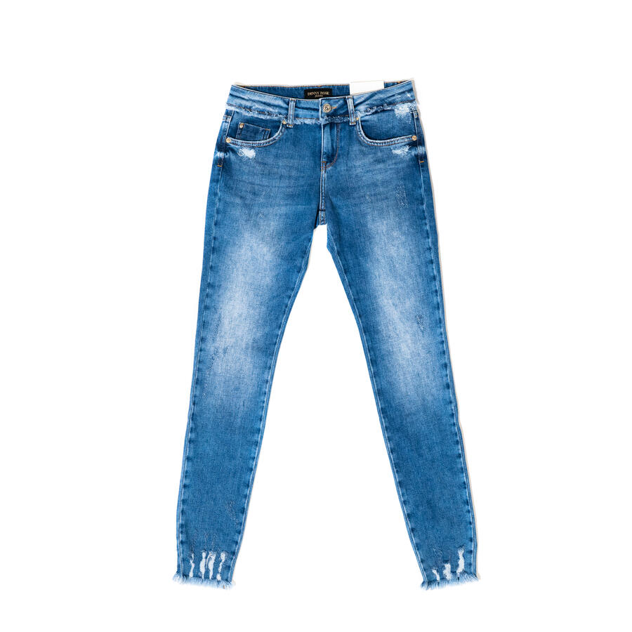 JEANS  DENNY ROSE SKINNY SUPER STRETCH CON ROTTURE