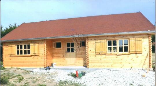 Casa in legno 11,00 m x 6,00 m - Mod. Viola - 44 mm