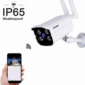 FREDI Outdoor Wifi Network CCTV Camera IP Wireless HD 720p Security Resistente alle intemperie con visione notturna