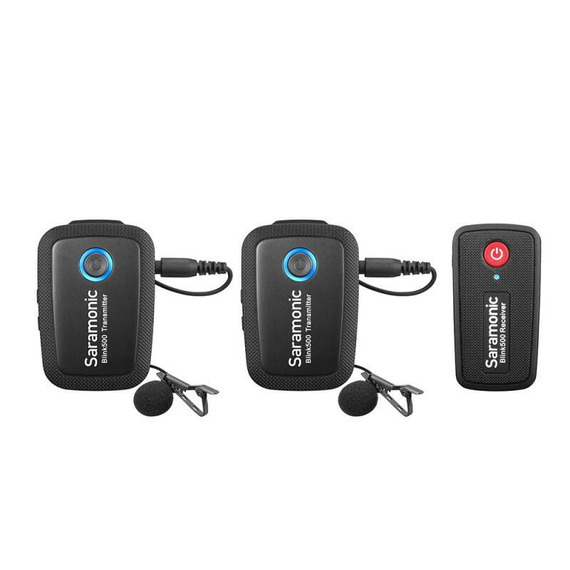 Saramonic Blink500 B2 (TX+TX+RX) - Wireless Microphone System (2.4 GHz - Dual Channel)
