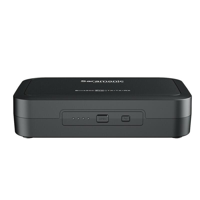 Saramonic Blink500 Pro B2 (TX + TX + RX) - Sistema microfonico wireless (2,4 GHz - Doppio canale)