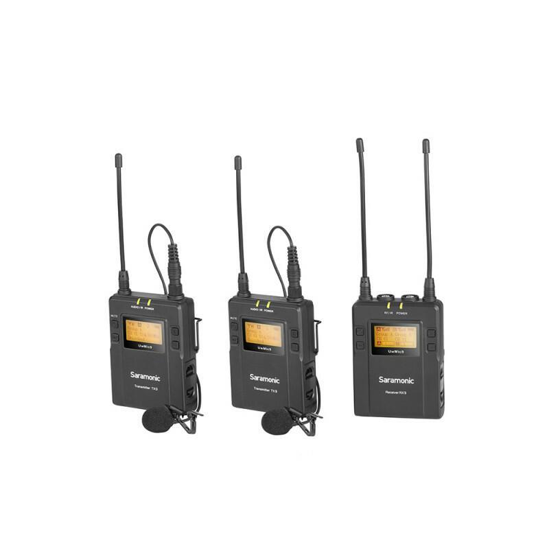 Saramonic UwMic9 Kit2 - Sistema microfonico lavalier wireless (UHF - Doppio canale)