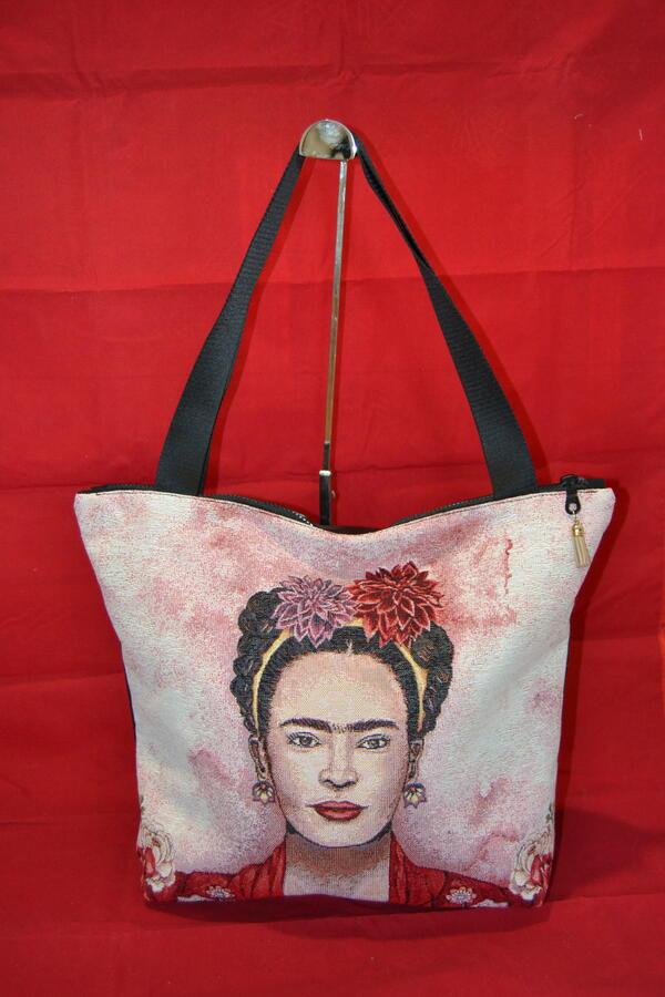 Borsa da spalla con ritratto Frida Khalo