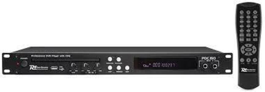 Power Dynamics PDC150 19'' DVD PLAYER con CD+G AND USB