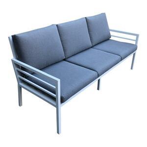 Divanetto da giardino in alluminio 3 posti DOLOMITI 3 colore bianco cm 186