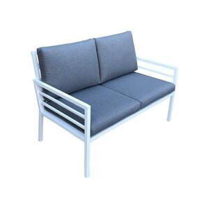 Divanetto da giardino in alluminio 2 posti DOLOMITI 2 colore bianco cm 126