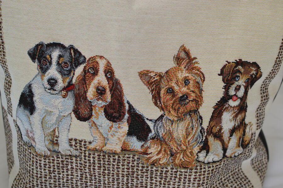 Borsa da spalla con quartetto cuccioli