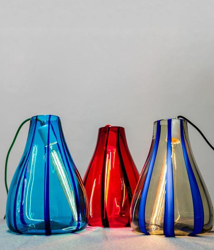 Lampada da Tavolo LUCE LIQUIDA di Zafferano Bespoke in Vetro di Murano, Varie Finiture - Offerta di Mondo Luce 24