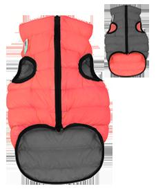 AiryVest S 40 cm Rosa e Grigio Cappottino Piumino Cappotto Per Cani Impermeabile