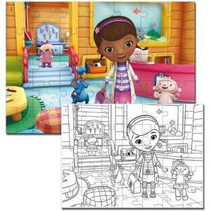 Dottoressa Peluche - Color Puzzle 2 in 1 - Lisciani 43842 - 3+ anni