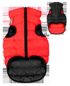 Airyvest L 65 cm Rosso e Nero Cappottino Piumino Per Cani Impermeabile Cappotto