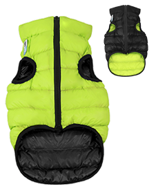 Airyvest L 65 cm Nero Verde Cappottino Piumino Per Cani Impermeabile Cappotto