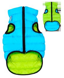 Airyvest M 47 cm Blu Verde Cappottino Piumino Per Cani Impermeabile Cappotto