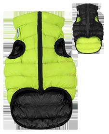 Airyvest XS 22 cm Nero Verde Cappottino Piumino Per Cani Impermeabile Cappotto