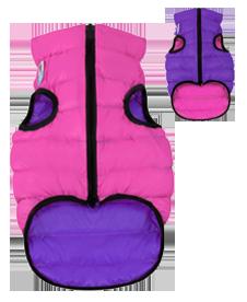 Airyvest M 40 cm Viola Rosa Cappottino Piumino Per Cani Impermeabile Cappotto