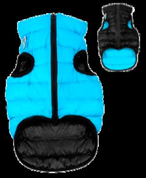 Airyvest M 50 cm Blu Nero Cappottino Piumino Per Cani Impermeabile Cappotto