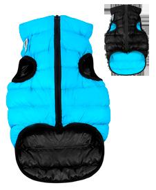 Airyvest M 47 cm Blu Nero Cappottino Piumino Per Cani Impermeabile Cappotto