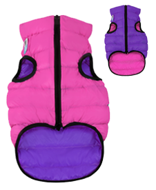 Airyvest L 65 cm Viola Rosa Cappottino Piumino Per Cani Impermeabile Cappotto