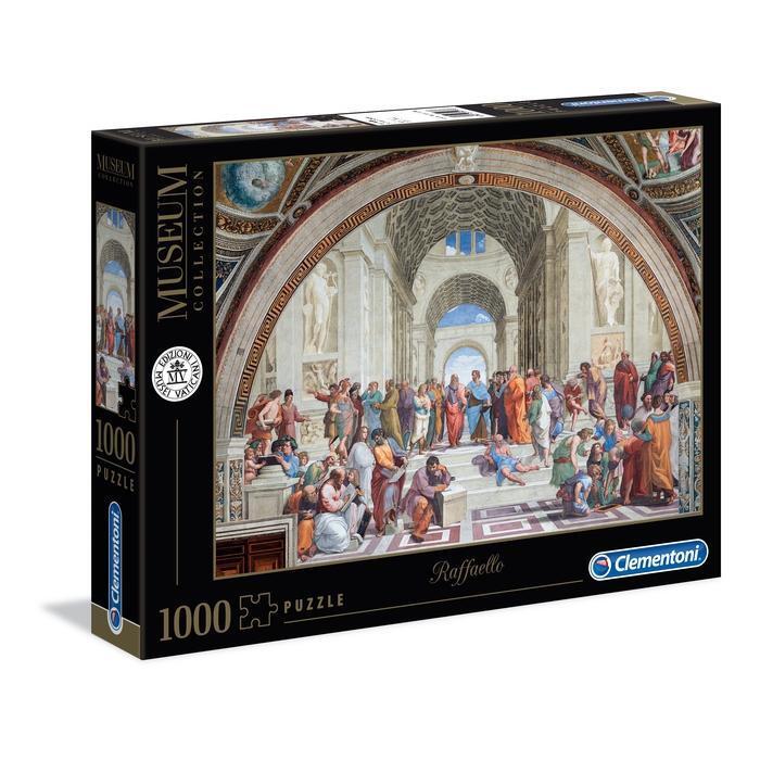 PUZZLE 1000 PEZZI MUSEUM COLLECTION RAFFELLO LA SCUOLA DI ATENE 69 X 50 CM CLEMENTONI
