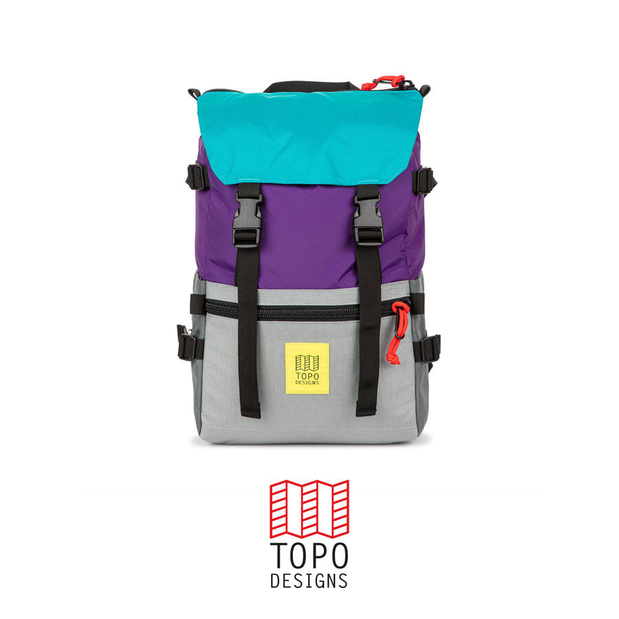 Topo Design Rover Pack - Purple/Silver/Turquoise