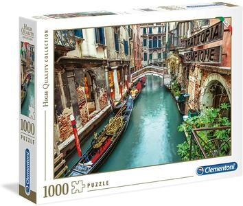 PUZZLE 1000 PEZZI HIGH QUALITY COLLECTION CANALE DI VENEZIA 69 X 50 CM CLEMENTONI