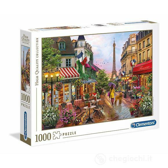PUZZLE 1000 PEZZI HIGH QUALITY COLLECTION FIORI A PARIGI 69 X 50 CM CLEMENTONI