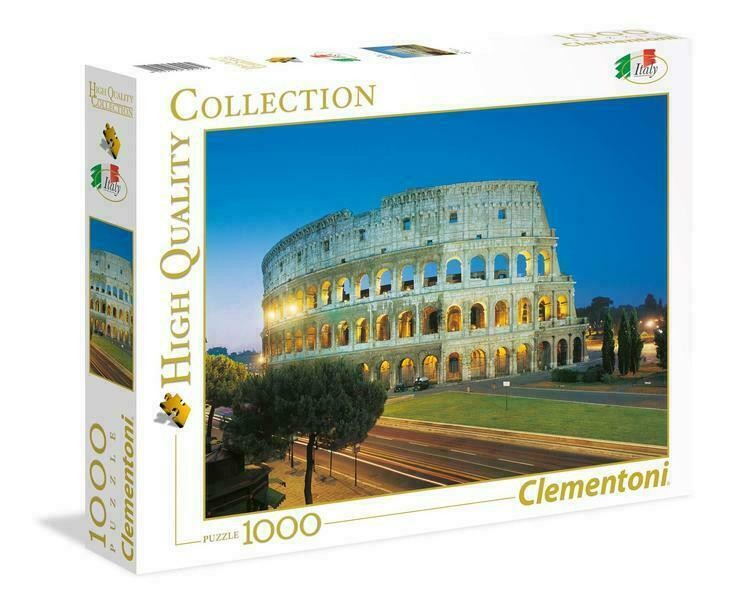 PUZZLE 1000 PEZZI HIGH QUALITY COLLECTION ROMA COLOSSEO 69 X 50 CM CLEMENTONI