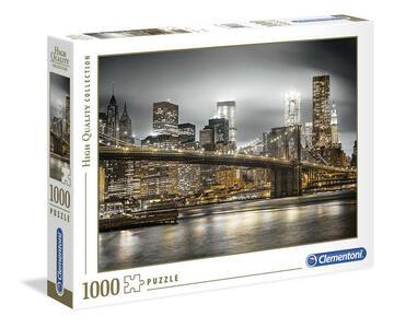 PUZZLE 1000 PEZZI HIGH QUALITY COLLECTION NEW YORK SKYLINE 69 X 50 CM CLEMENTONI