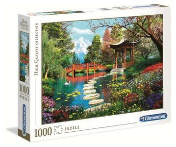 PUZZLE 1000 PEZZI HIGH QUALITY COLLECTION FUJI GARDEN 69 X 50 CM CLEMENTONI